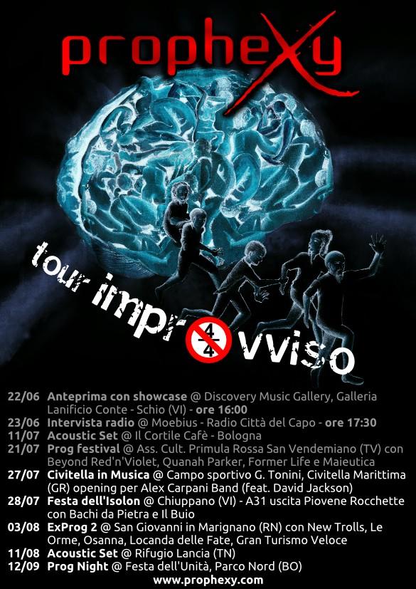 PropheXy - Flyer tour improvviso
